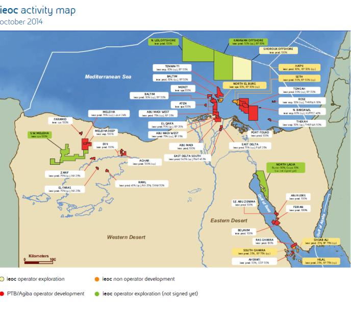 במצרים ישנה פעילות ענפה של הפקה וחיפוש של גז טבעי